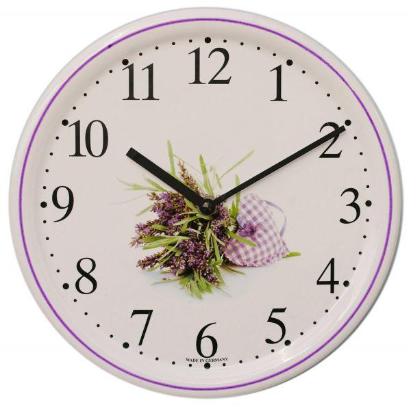 Keramik-Uhr Dekor / Lavendel