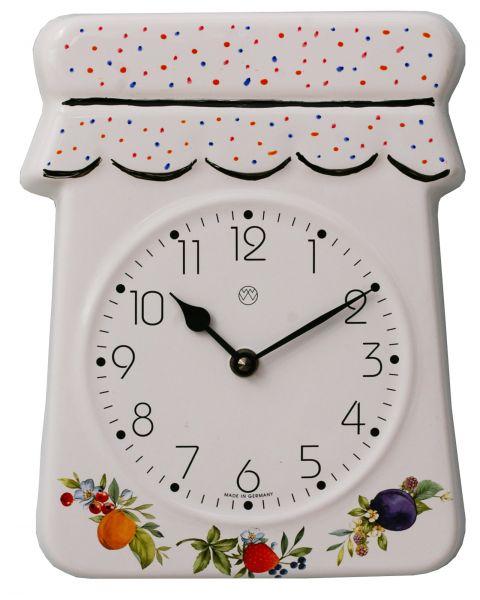 Keramik-Uhr / Früchtedekor