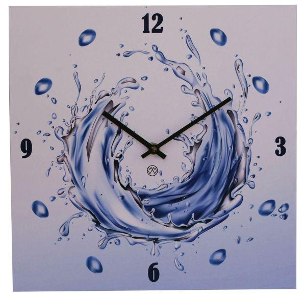 Quarz-Wanduhr Design / Water