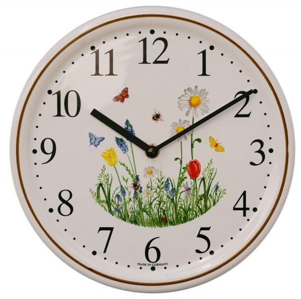 Keramik-Uhr Dekor / Frühling